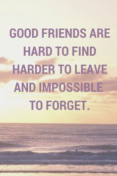 GOOD FRIENDS ARE HARD TO FINDHARDER TO
