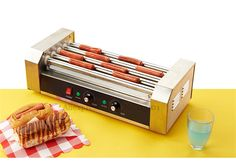Hot Dog Grill Machine Roast Sausage Grill Maker Stainless Steel Hotdog Maker Cooker with 5 Rollers