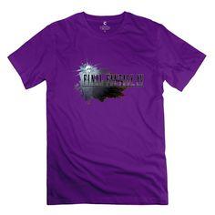 Man Final Fantasy XV Logo Customized Cool Black Tee Shirts By Mjensen Medium