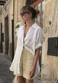 Basic Outfits, Casual Summer Outfits, Mode Outfits, Fashion Outfits, Mono Floral, Looks Style, My Style, Minimal Fashion, Parisian Style