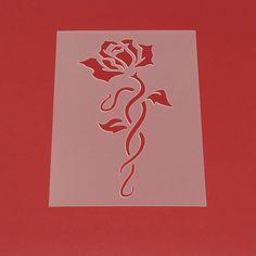 Schablone Blume Ornament Rose Blüte - MF59 von Lunatik-Style via dawanda.com