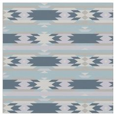 Pretty Blue Aztec Tribal Pattern Fabric Cute Trendy Blue Aztec Tribal textile Fabric Pattern. Seamless vector design, prints beautifully. Great for sewing, photo backdrops, curtains and more! Customize the pattern size, ...