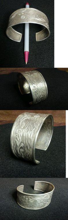 Bracelets 98509: Karen Hill Tribe Cuff Bracelet 960/000 Silver Impressive Art Thai Jewerly -> BUY IT NOW ONLY: $107.0 on eBay!