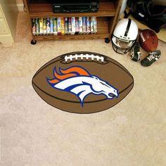 Denver Broncos Football Mat