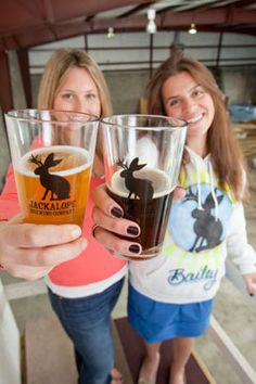 Robyn Virball and Bailey Spaulding, co-founders of Jackalope Brewing Company