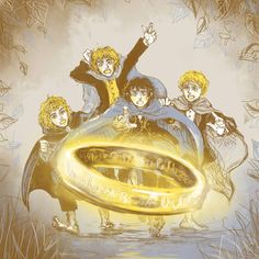 Хоббиты и Единое кольцо   Colour Palette challenge - Lord Of the Rings by Sildesalaten on DeviantArt