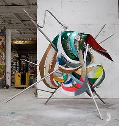 Frank Stella combo and large size, 2009 protogen RPT with stainless steel tubing 180 x 192 x 120 inches x x cm PK 13319 Post Painterly Abstraction, Abstract Art, Op Art, Frank Stella Art, York Art Gallery, Most Famous Paintings, Famous Art, Joseph Albers, New York Art