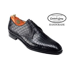 Aintree Black Crocodile, Men's Collection | Crockett & Jones