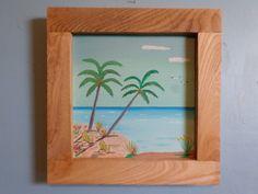 Original Oil Seascape Painting  12 x 12 On by FranklinsArtStudio