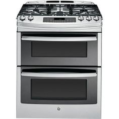 Profile 6.7 cu. ft. Slide-In Double Oven Gas Range with Self-Cleaning Convection Oven in Stainless Steel Home Depot $3199