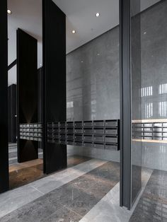 SHUN TAK HOLDINGS - NOVA PARK LIFT, GROUND FLOOR AND TYPICAL LOBBIES - One Plus Partnership Lobby Interior, Room Interior Design, Lounge Design, Floor Design, Clubhouse Design, Mail Room, Lobby Design, Signage Design, Lobbies