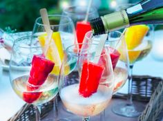 Prosecco met fruitijsjes - Boodschappen