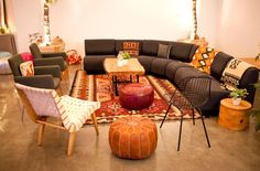 Spanish Hacienda style with modern furniture from yeah! rentals