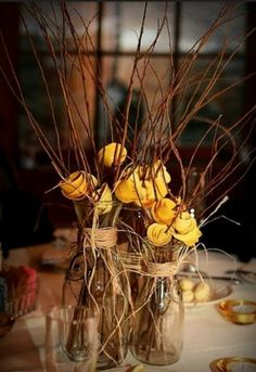 Cute and Simple Country Centerpieces