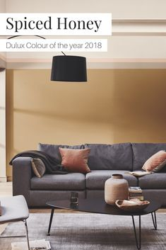 Spiced Honey is the Dulux Colour of the Year 2019   A beautifully relaxed yet rich earthy shade with caramel and biscuit undertones. Spiced Honey invites the layering of colours and textural contrasts. #spicedhoney #dulux #colouroftheyear2019