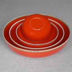 Middle Kingdom Hermit Nesting Bowls - Red