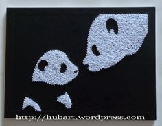 panda family string art