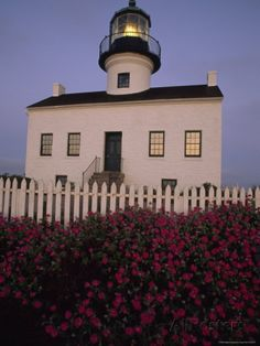 Early morning light on Old Point Loma Lighthouse in San Diego, California sprained my ankle there.