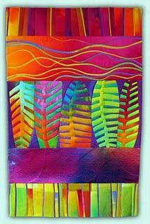 leafy rainbow quilt.
