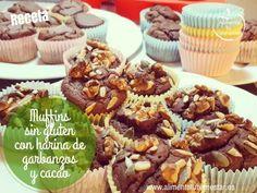 Nueva #receta en el blog: Muffins sin gluten con harina de garbanzos y cacao, un dulce saludable que hará las delicias de tus comensales por lo original y sorprendente