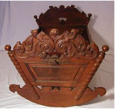 Antique Museum Quality Carved Baby Cradle Circa 1640