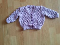 Violet's little cardigan. First made for her mother!