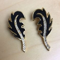 Cutest shoe clips made in france  TO BUY: Comment with your email address, and you'll receive a secure checkout link.  Price: $69.00.  Fine vintage made in France metal leaf shoe clips. Filled with rhinestones up the center. Very subtle bling for that spe