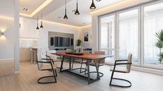 Designer-Tisch KT6 mit zarter Unterkonstruktion - palatti Metal Furniture, Furniture Design, Wood And Metal, Solid Wood, Christian, Table, Home Decor, Design Table, Types Of Wood
