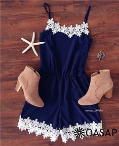 Fetching Halter Sleeveless Lace Rompers m.OASAP.com