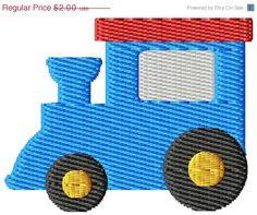 ON SALE Train Mini Machine Embroidery Design on Etsy, $1.40