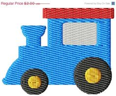 ON SALE Train Mini Machine Embroidery Design on Etsy, $1.40
