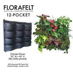 florafelt verticle garden... edible garden            FLORAFELT Vertical Garden Planter 12-Pocket by sally tb