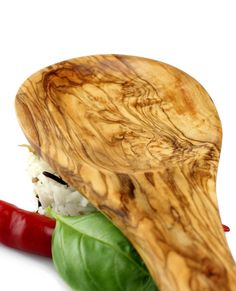 Servierlöffel aus Olivenholz 28 cm | treevoli
