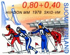 World Ski Championships, Lahti - Click Image to Close Relay Races, Stamp Collecting, Postage Stamps, Finland, Racing, History, Retro, Coupon, Sports