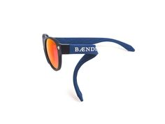 MATTE BLACK FRAMES / RED LENSES with DARK BLUE TEMPLES AND BRIDGE (WHITE LOGO)  www.baendit.com