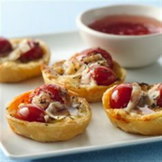 Brie and Candied Tomato Tartlets #Vegetarian
