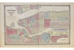 New York & Adjacent Cities, 1856 | Take It Uptown | One Kings Lane