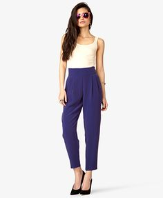 Crepe Woven Trousers   FOREVER 21 - 2026164221