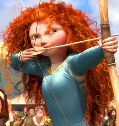 Took a team of six Pixar animators three years to create her life-like curls, which is basically what I think happens to my hair every time I wake up and look in the mirror for the first time.