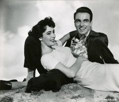 Elizabeth Taylor and Montgomery Clift in A Place in the Sun (1951)