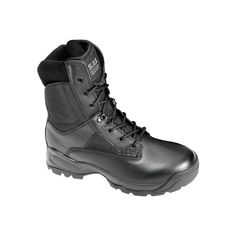 "Men's 5.11 Tactical ATAC 8"" Side Zip Boot - Black Casual (850 SEK) ❤ liked on Polyvore featuring men's fashion, men's shoes, men's boots, men's work boots and black"