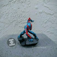 Spiderman Disney Infinity Figure made into a Spiderman 2099 figurine!
