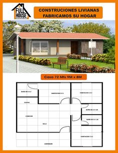 My House Plans, House Plans 3 Bedroom, Small House Plans, House Floor Plans, Bungalow House Design, House Front Design, Affordable House Plans, House Elevation, Peaceful Places