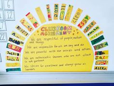 our classroom agreement ☀️☀️☀️💛