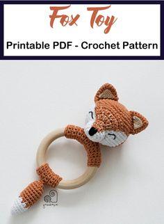 Make a Cute Fox Baby Rattle Sewing Dreams & Notions Heather Hamlin Crochet Baby Toys, Crochet Diy, Crochet Animals, Crochet Crafts, Crochet Dolls, Handgemachtes Baby, Fox Baby, Fuchs Baby, Crochet Rings