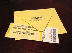Save The Date Concert Ticket by brosedesign on Etsy, $0.75