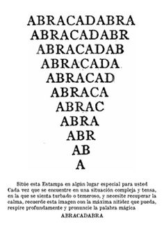 ABRACADABRA via ALMACÉN DE ANÁLISIS. Click on the image to see more!