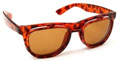 QLook Solid Buddy Flip Up Dark Wayfarer Style Sunglasses - (Various Solid Colors), Tortoise QLook. $6.95