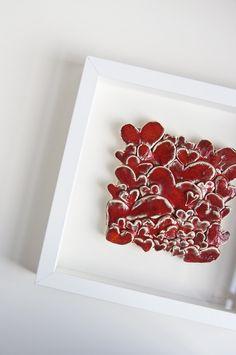 hearts ceramic tile
