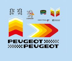 Bicycle Decals For Vintage, Classic, Contemporary Peugeot Cycles